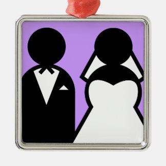 La novia y el novio ornamentos de navidad