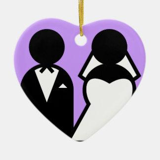 La novia y el novio ornamento de reyes magos