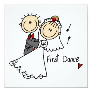 """La novia y el novio primero bailan las camisetas y invitación 5.25"""" x 5.25"""""""