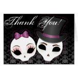 """La novia y el novio Skullies (violeta) """"le agradec Felicitaciones"""