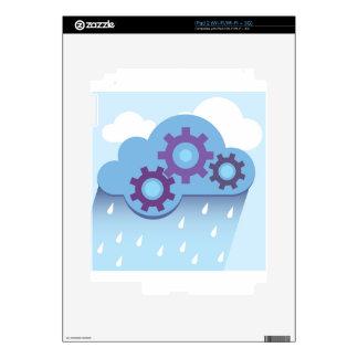 La nube adapta la lluvia calcomanía para iPad 2