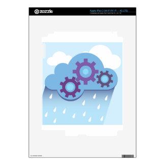 La nube adapta la lluvia iPad 3 pegatina skin
