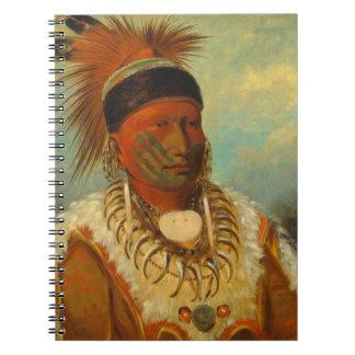 La nube blanca jefe principal del Iowas Cuaderno