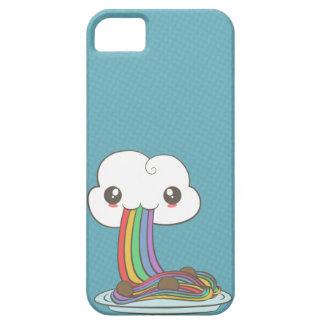 La nube come los espaguetis del arco iris funda para iPhone 5 barely there
