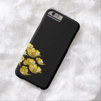 La nube fresca del oro modela la caja negra del funda de iPhone 6 barely there