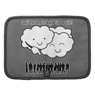 La nube imita el dibujo animado divertido de las f planificador