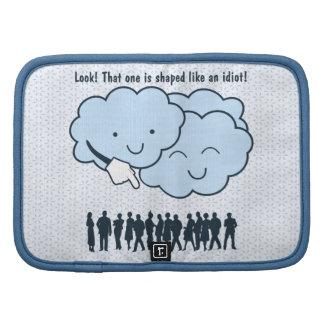 La nube imita el dibujo animado divertido de las f organizador