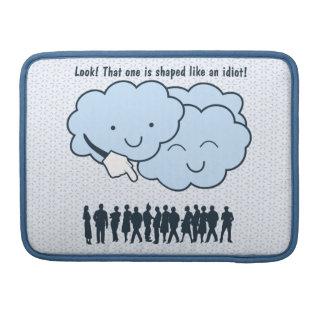 La nube imita el dibujo animado divertido de las f fundas para macbook pro