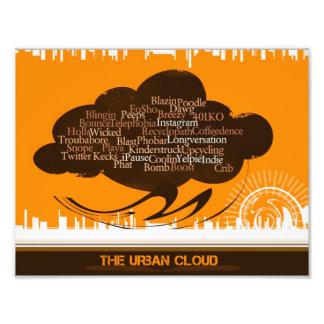La nube urbana fotografía