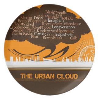 La nube urbana platos de comidas