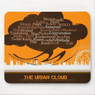 La nube urbana tapete de ratón