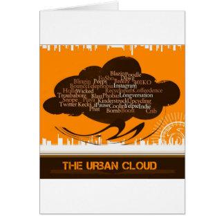 La nube urbana tarjeta pequeña