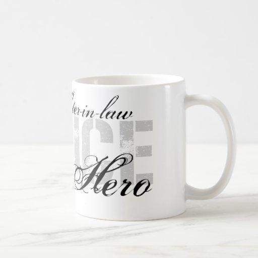 La nuera es mi héroe - POLICÍA Tazas De Café