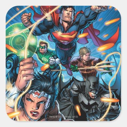 La nueva 52 cubierta #4 pegatina cuadrada