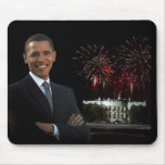 La nueva casa de Obama en la noche Tapetes De Ratones