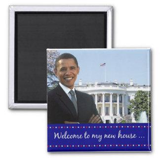 La nueva casa de Obama - imán cuadrado