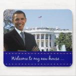 La nueva casa de Obama - Mousepad Tapetes De Raton