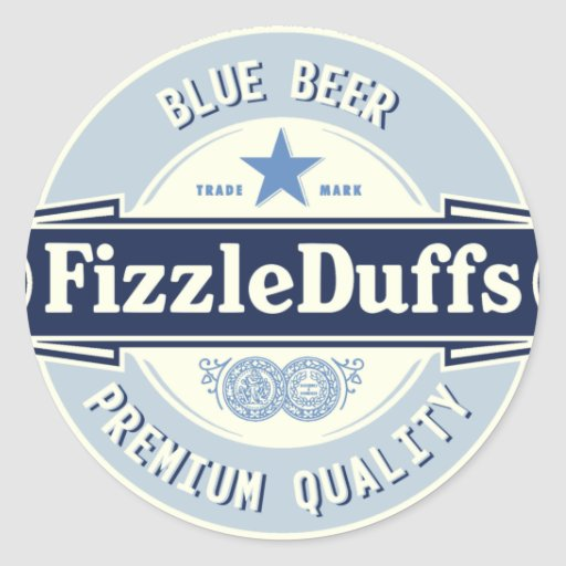 ¡La nueva cerveza llamó Fizzleduffs! Pegatina