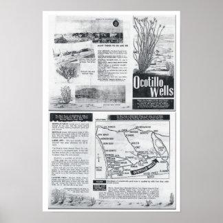 La nueva ciudad del Ocotillo mana - folleto de los Póster