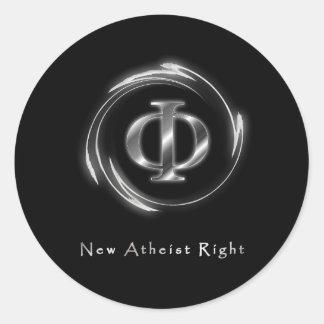 La nueva derecha atea pegatina redonda