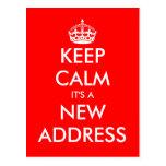 La nueva dirección guarda las postales móviles