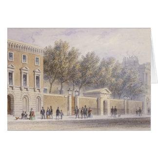 La nueva entrada a Pasillo de los tenderos, 1854 Tarjeta De Felicitación