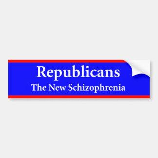 La nueva esquizofrenia - republicano anti pegatina para auto