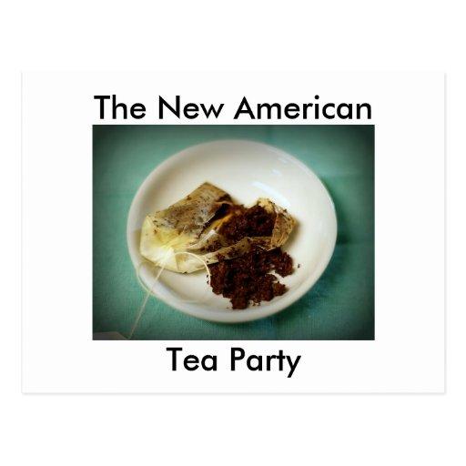 La nueva fiesta del té americana postales