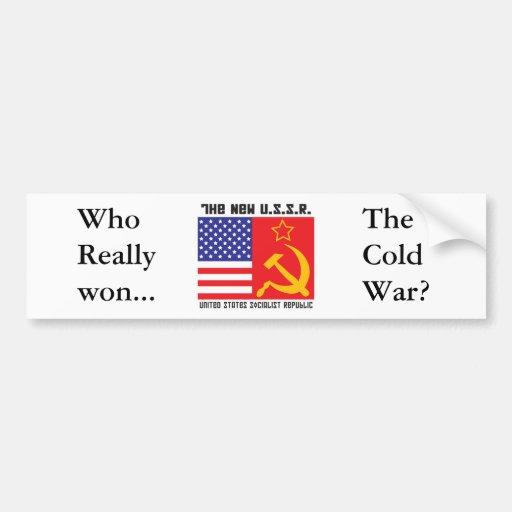 ¡La nueva guerra fría! Pegatina Para Auto