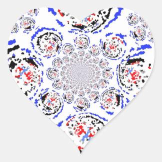 La nueva mirada retra pegatina en forma de corazón