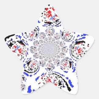 La nueva mirada retra pegatina en forma de estrella