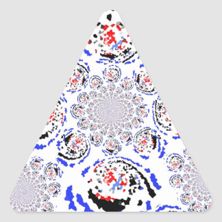 La nueva mirada retra pegatina triangular