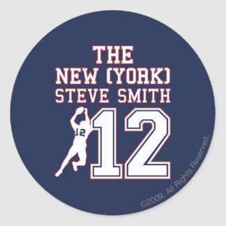 La Nueva York Steve Smith Pegatina Redonda