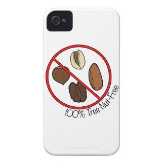 La nuez 100% del árbol libera iPhone 4 Case-Mate fundas