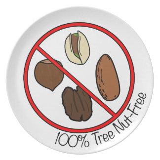 La nuez 100% del árbol libera plato de comida