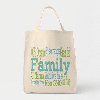 La nutrición importaba de la familia bolsa tela para la compra