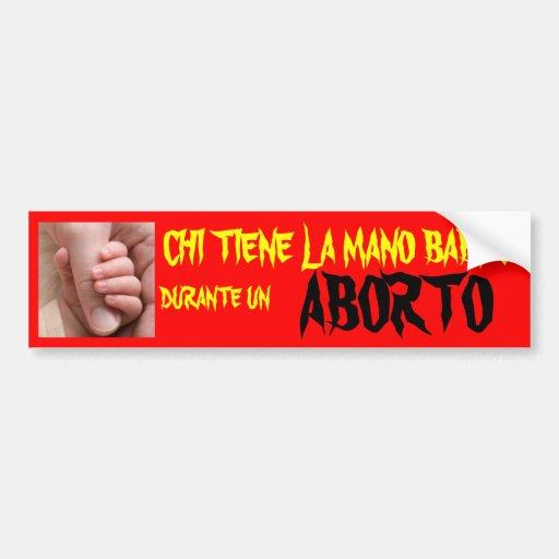 LA O.N.U ABORTO DEL LA MANO DURANTE DE LA JI TIENE PEGATINA PARA AUTO