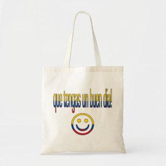 ¡La O.N.U Buen Día de Que Tengas! Colores de la ba Bolsa Tela Barata