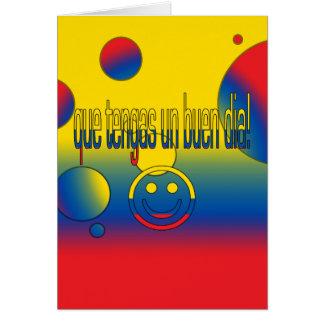 ¡La O.N.U Buen Día de Que Tengas! Colores de la ba Tarjeta Pequeña