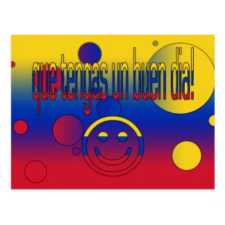 ¡La O.N.U Buen Día de Que Tengas! Colores de la Tarjeta Postal