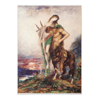 """La O.N.U Centaure del par de Poete Mort Porte Invitación 5"""" X 7"""""""