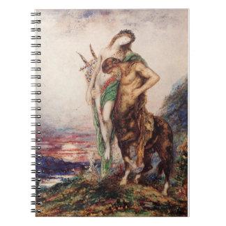 La O.N.U Centaure del par de Poete Mort Porte Libro De Apuntes