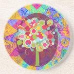 La O.N.U colorida del extracto del Lollipop del ár Posavasos Diseño