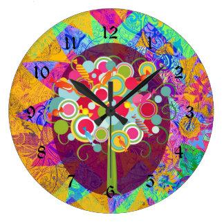La O.N.U colorida del extracto del Lollipop del ár Reloj Redondo Grande