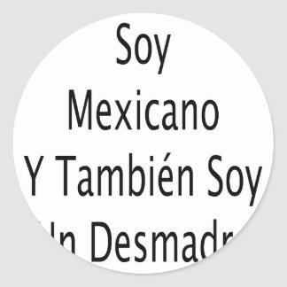 La O.N.U Desmadre de la soja de Mexicano Y Tambien Pegatina Redonda