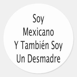 La O.N.U Desmadre de la soja de Mexicano Y Tambien Etiquetas Redondas