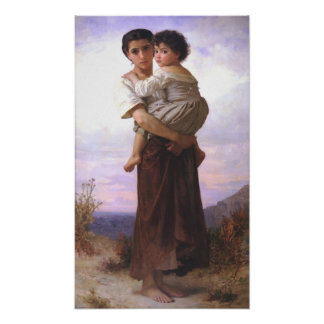 La O.N.U Enfant del arrendatario de Bouguereau - d Poster