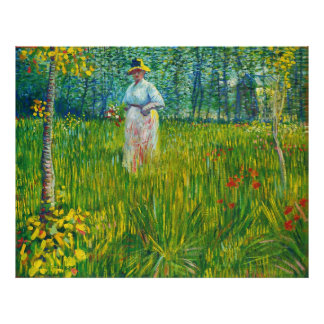 La O N U Jardin Van Gogh de los dans de Femme Poster