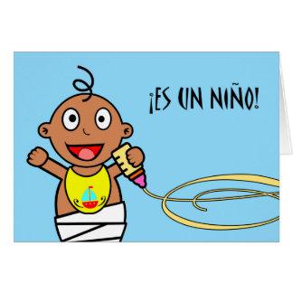 ¡La O.N.U Niño del Es! Enhorabuena en bebé en Tarjeta De Felicitación