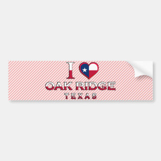 La Oak Ridge Tejas Etiqueta De Parachoque